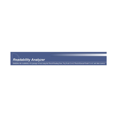 Readability Analyzer