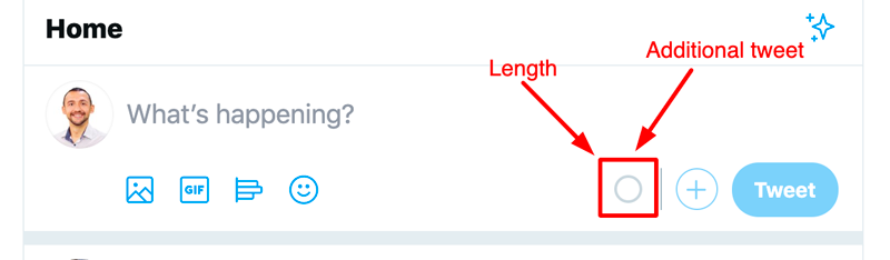 There are two options, whereby you can control the length of your tweet and add another tweet