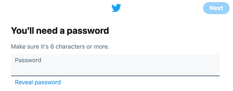 Type in your password