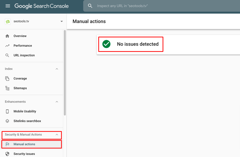 Manually actions on Google Console