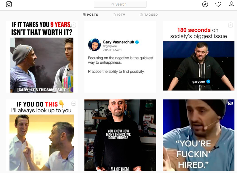 GaryVee account