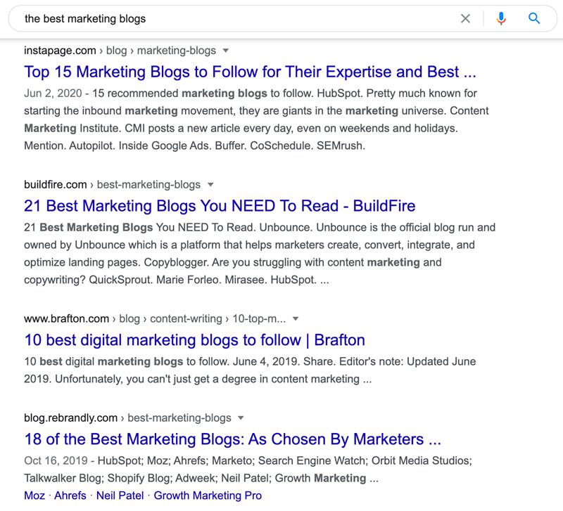The best marketing blogs