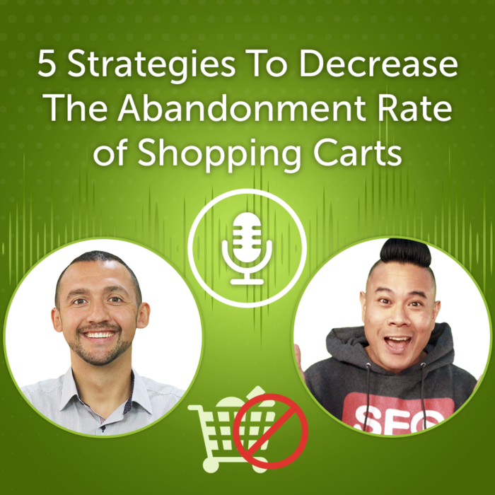 5 Strategies To Decrease The Abandonment Rate of Shopping Carts (Episode #29)